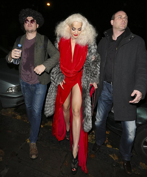 Rita Ora Long Length Dress