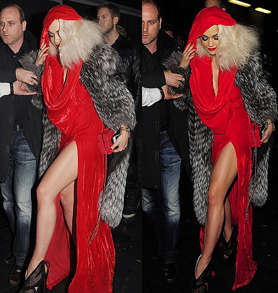 Rita Ora Thigh Length Dress