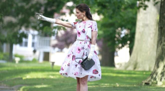 Katie Holmes Fire Gun