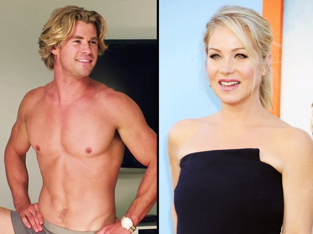 Christina Applegate in Awe of Chris Hemsworth's Abs