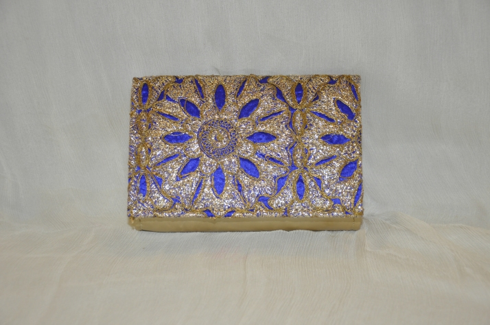 Blue Color Handcrafted Beautiful Bags