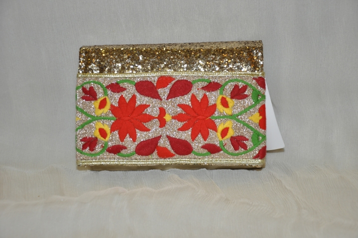 Multi Colored Handmade Flower-Pattern Bag